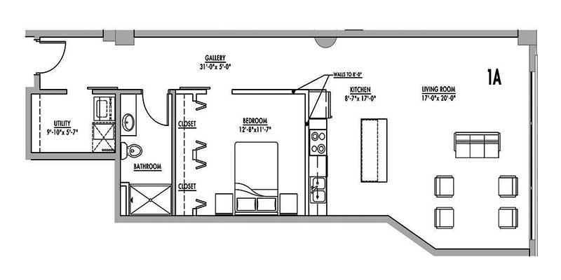 Floor Plan 1a Junior House Lofts