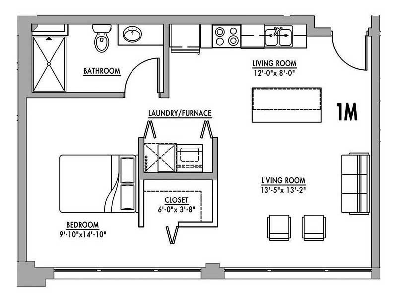 FLOOR PLAN 1M - Junior House Lofts