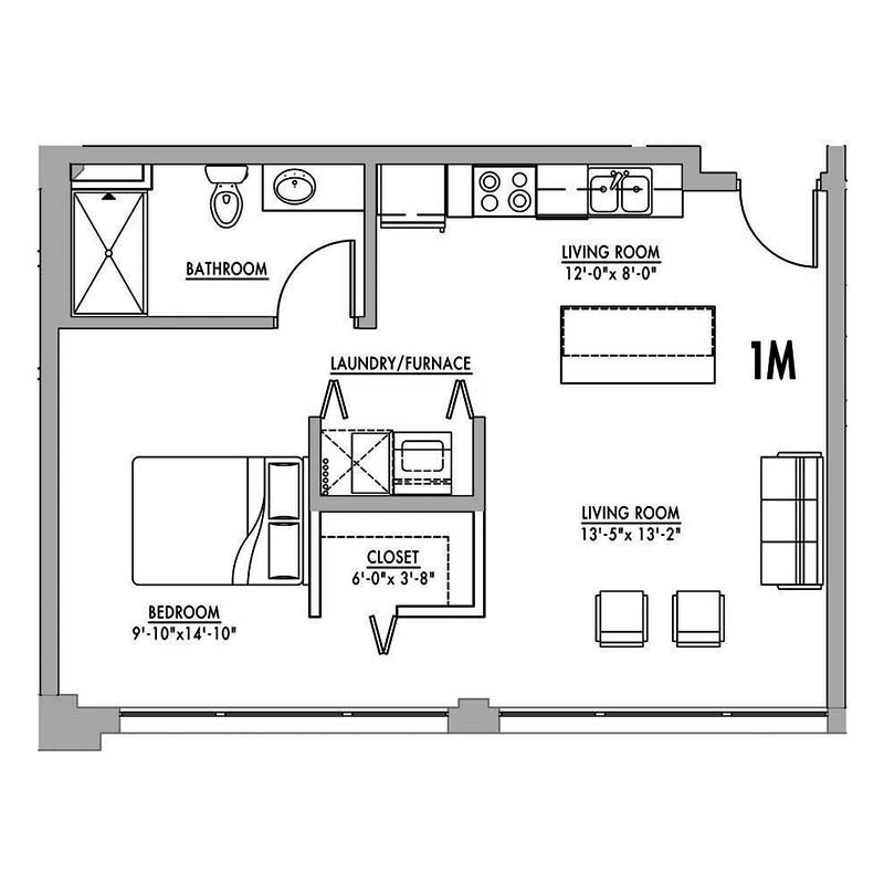 small 2 bedroom apartment plans floor plan 1m junior house lofts 19718