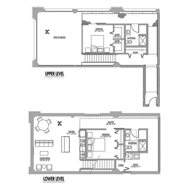Floor plan 2c junior house lofts House with loft floor plans