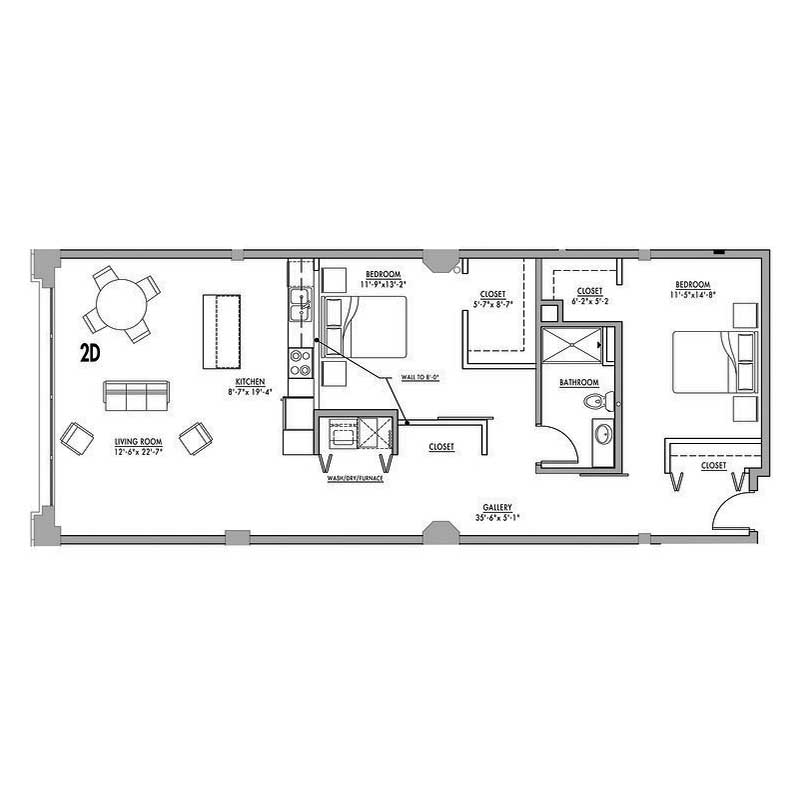 Floor Plan 2d Junior House Lofts