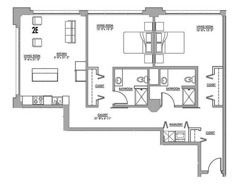 Floor Plan 2e Junior House Lofts